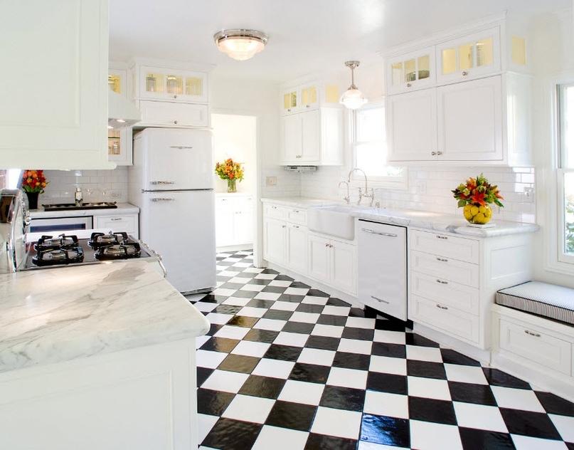 Черно-белая кухня – особенности контрастного дизайна., изображение №13