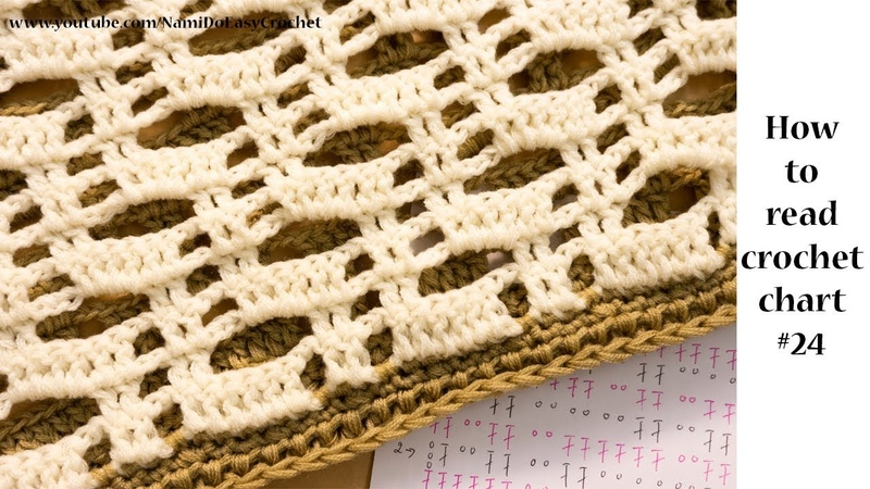 Easy Crochet: How to read crochet chart 24