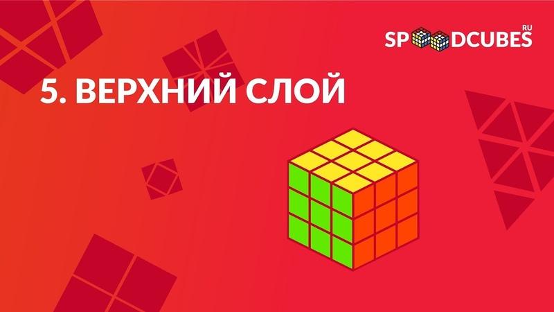 Обучалка 5 |Как собрать кубик Рубика 3х3 | Верхний (третий) слой