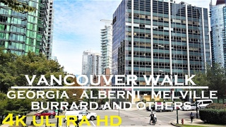 Downtown Vancouver walk on a beautiful summer afternoon (4k walking tour)
