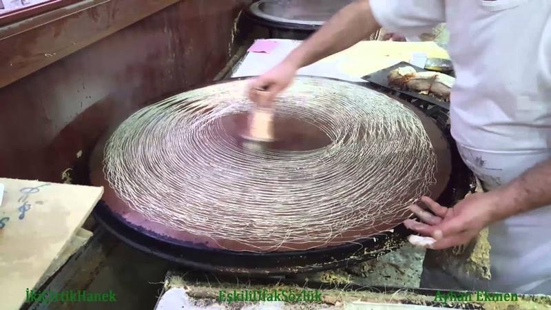 Kadayıf Hamurunun Pişirilişi Gaziantep