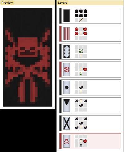как поставить флаг от паука в майнкрафт #2
