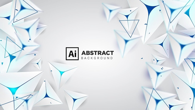 How to make Abstract 3D Triangle Shapes Background in Adobe Illustrator