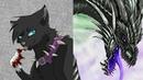 Коты воители в образе ДРАКОНОВ 1 часть