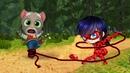 КТО КРУЧЕ ГОВОРЯЩИЙ КОТ ТОМ TALKING TOM ИЛИ Леди Баг и Супер Кот! ANGELA and Ladybug!