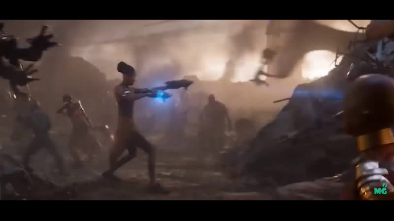 During the final battle in Endgame you can see bodies flying after Ant Man steps on them