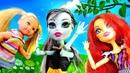 Toralei Barbie'nin çocuğunu kaybediyor Piknik oyunu Monster High oyuncakları