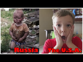 Russian and American kids.