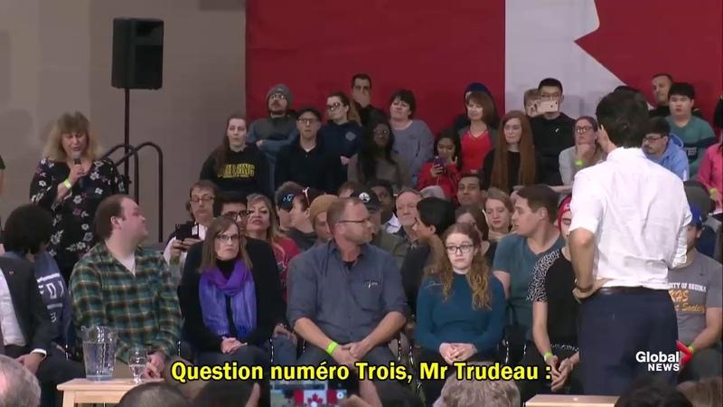 Une Canadienne ose accuser Trudeau de traître et de vendu 10 01 2019