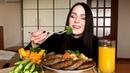 MUKBANG Котлетки овощи на пару meatballs steamed vegetables не ASMR