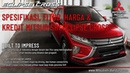 Spesifikasi, Fitur dan Harga Mitsubishi Eclipse Cross Bandung