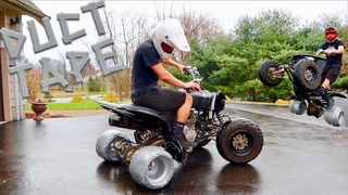 DRIFT QUAD DUCT TAPE TIRES!!! This Was Crazy