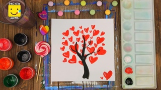 Валентинка своими руками за 5 минут. Рисунки для детей. Очень просто!