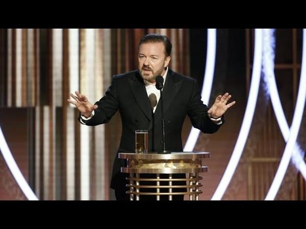 """Golden Globes 2020 - Moderator schockt Hollywood-Stars: """"All ihr Perversen"""" (Originalton Englisch)"""