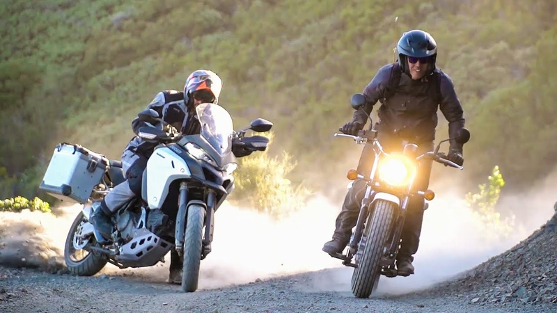 Rags to Riches Suzuki VanVan 200 vs Ducati Multistrada 1200 Enduro On Two Wheels