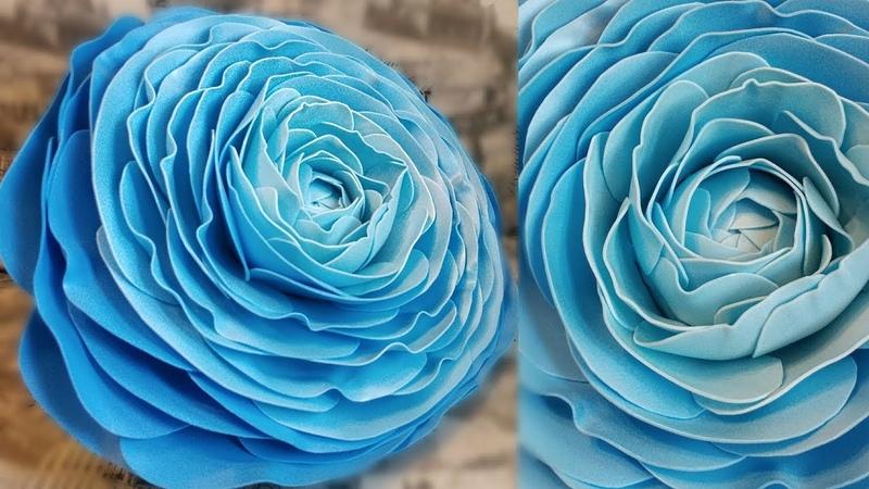 Большой РАНУНКУЛЮС из изолона, ростовые цветы, лютик, как сделать середину,основу ростового цветка