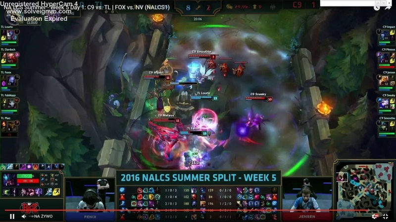 Flying trundle bug in LCS C9 vs TL