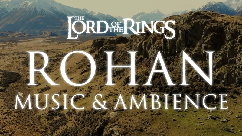 Lord of the Rings Music Ambience Rohan Theme Music with Mountain Wind Ambience