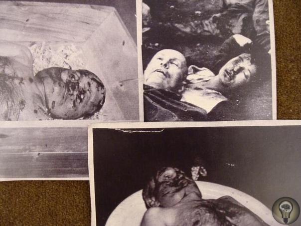 Бенито Муссолини лежит мертвый на миланской площади Лорето со своей любовницей Кларой Петаччи