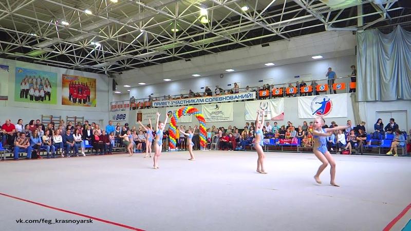 Сапфиры 6 8 лет Турнир Апрелинка Эстетическая гимнастика