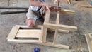 Amazing Techniques Carpenters Woodworking Peak Skills - Building Wooden Dining Chair Step by Step