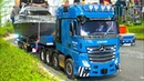 AWESOME RC TRUCKS, SCANIA, AROCS, ACTROS, MAN!! RC HEAVY LOAD YACHT TRANSPORT, RC EXCAVATOR