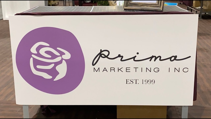 Prima Marketing Booth-- Creativation 2020-- Finnabair- Memory Hardware- Julie Nutting- Scrapbooking
