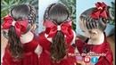 Penteado para Meninas com Elásticos e Tranças Penteado com Rabo de Cavalo ou Coque