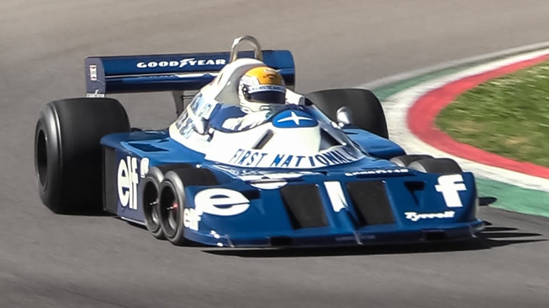 Legendary 6-wheeled 1977 Tyrrell P34 F1 Car at Imola Circuit!