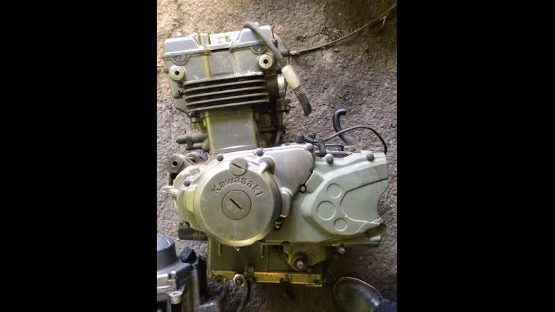 Проверка контрактного двигателя Kawasaki KLE400 EN400AE перед отправкой клиенту | motod.ru