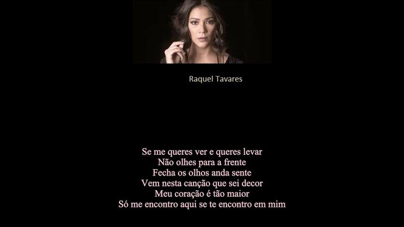 Portugal Singer- Raquel Tavares- Gostar De Quem Gosta De Nós [Like Who Likes Us]