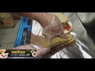 Приготовление Донера с люля кебаб