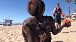 Beach Handball Training With @HandballNinja
