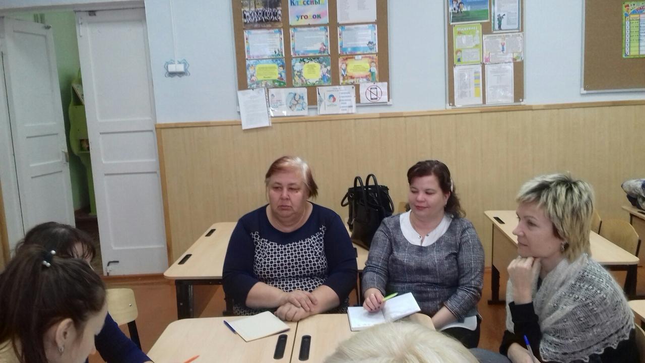 Заседание школьного методического объединения учителей начальных классов
