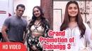 Salman Khan, Sonakshi Sinha, Saie Manjrekar Grand Promotion of Dabangg 3 at Mehboob Studio Bandra