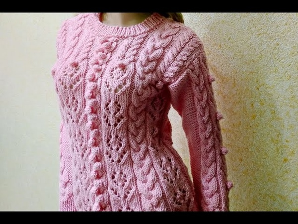 Вязание ажурного джемпера Knitting of a beautiful jumper