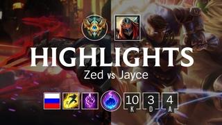 Highlights Zed Top vs Jayce - RU Challenger Patch 8.7