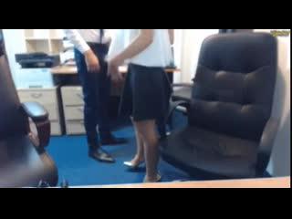 Nude in office girl