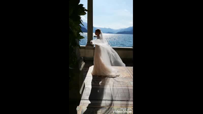 Мой макияж и причёска от @alena_vasileuskayпре для Невесты Алёны в Италии 🇮🇹🌿❤️