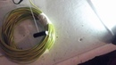 Электромагнит. Медь 30 метров, 1.5мм^2, ток 1.8 ампер через баластную лампу от 5 вольт
