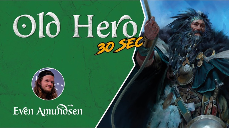 Digital Speed Paint: Old Hero TEGN Fantasy Art