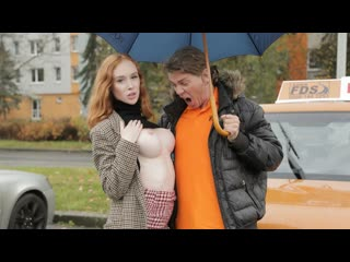 [FakeDrivingSchool] Lenina Crowne - Redhead Distracts with no bra on NewPorn2019