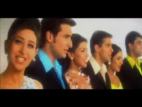 Salman Khan, Monish Behl, Saif, Sonali, Tabu Karishma in Hum Saath Saath Hain