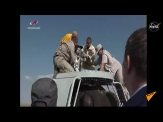Союз МС-11 с тремя членами экипажа МКС совершил посадку в казахстанской степи