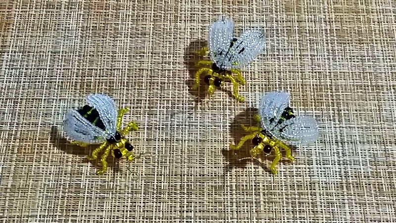 Работа из бисера. Пчела из бисера. Часть 2 .Пошаговый МК.Bee from beads DIY