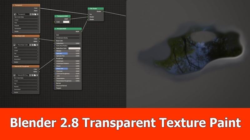 Blender 2.8 Tutorial : Transparent PBR Texture Painting
