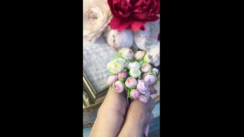 Шпильки и невидимки с цветами
