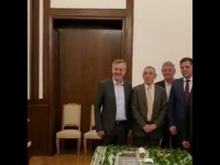 Встреча президента Сербии Александра Вучича c генеральным секретарем Федерации бокса России Умаром Кремлёвым.