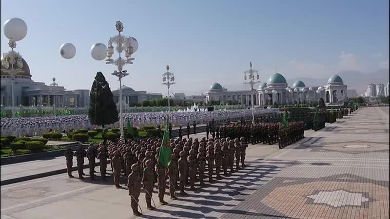 Türkmenistan dabaraly harby ýöriş parad 2018 720P HD mp4