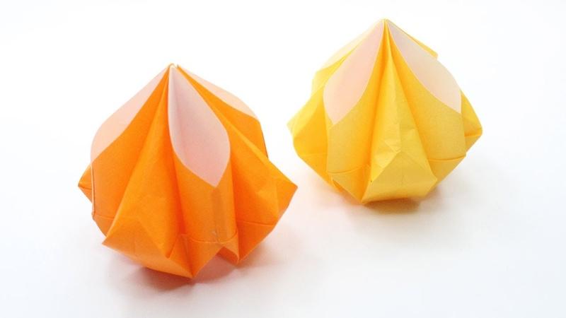 Modak Laddu Momos origami Easy Basic Simple Origami for Beginners Kids Paper DIY Crafts Ideas Art